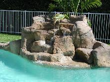 rockfall  swimming pool